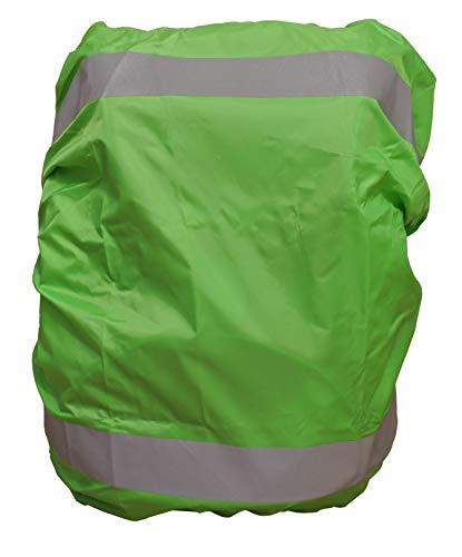 EANAGO Premium Regenschutz/Regenüberzug für Schulranzen, Rucksack, Fahrradtaschen. 100% wasserdicht (Grün)
