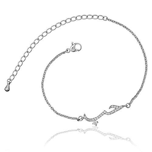 Selia Liebe Armband Schrift Love Arabisch Armreif minimalistische Optik Liebe Edelstahl handgemacht (Silber)