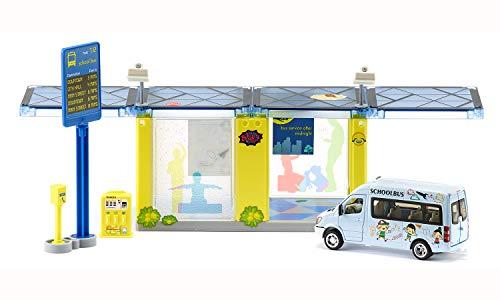 Siku 5509, Haltestelle, Kunststoff, Multicolor, Inkl. Mercedes-Benz Sprinter und Fahrkartenautomat