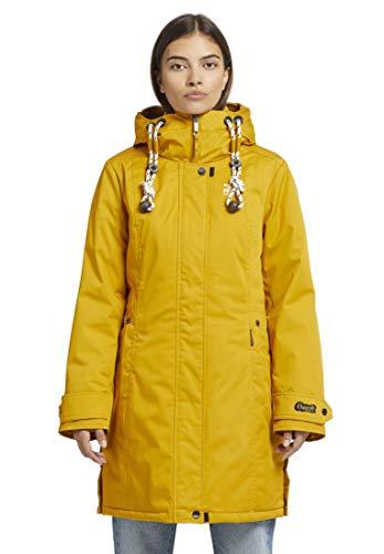 khujo Olivia Frauen Parka gelb M 65% Polyester, 35% Baumwolle Basics, Casual Wear, Streetwear