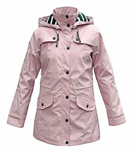 Batela Damen Regenmantel mit Innenfutter, Farbe:rosa, Größe:46