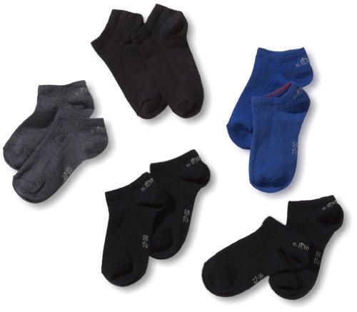 s.Oliver Socks Jungen S24125-Jungen Sneakersocke, Mehrfarbig (34 Navy Combi: Dark Blue, Blue, Jeans, Navy, Navy), 27-30