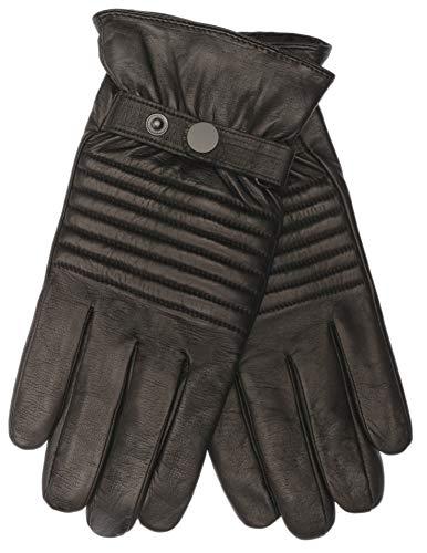 EEM heren leren handschoenen JACK met touch-functie van lamsnappaleder in biker-look, stiksels op de bovenhand, sportief, warm, smartphone