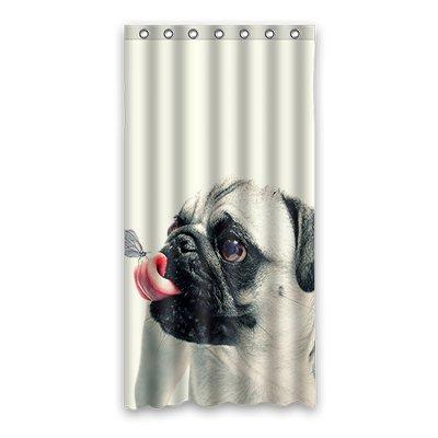 Dalliy Brauch mops hund Wasserdicht Polyester Shower curtain Duschvorhang 90cm x 183cm