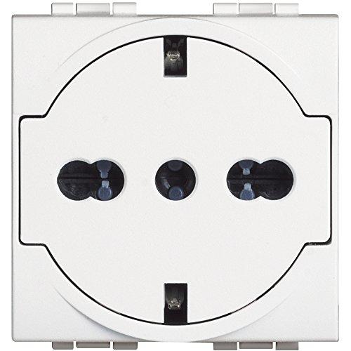Bticino sn4140V16ff livinglight Flat Light Enchufe estándar alemán/Italiano, Blanco