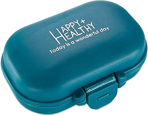 MEDca Pill Organizer Box With 4 Compartment Travel Medication Carry Case