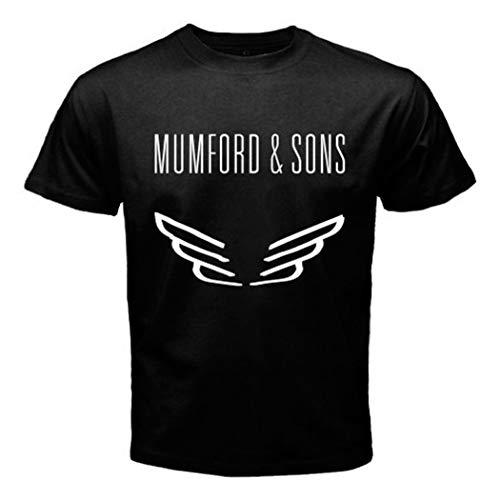 Nololy Mumford and Sons UK Rockband Lustige Herren 100% Baumwolle T-Shirt Graphic Tee Persönlichkeit lose Oansatz Top