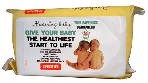 Beaming Baby Organic Baby Skincare Wipes - Pack of 72 Wipes ( Packaging may vary)