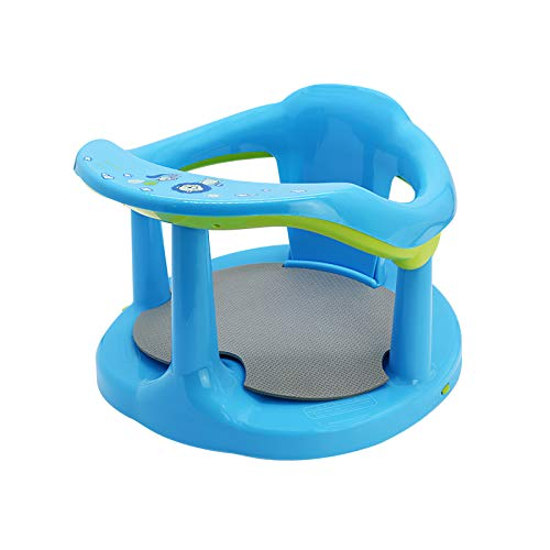 Baby Surround Bath Seat, Newborn Soft Sit-Up Bathtub Chair,Cute Baby Bathtub Seat Non-Slip Infants Bathing Backrest Support with Mat & Suction Cups for Stability for Baby(3-36 Months