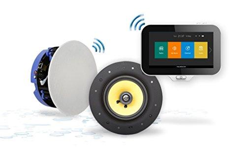 AquaSound Badradio mit Spotify und High-End wasserdichte Lautsprecher, fur Decke