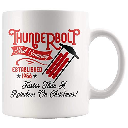 Thunderbolt Sled Company Established 1956 Faster Than A Reindeer On Christmas Xmas Mug Gift for Christmas Lover, Funny Coffee Mug, Xmas Teacup 11oz