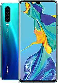 Huawei P30 ELE-L29 128GB Hybrid Dual Sim Unlocked GSM Phone w/Triple (40 MP + 16 MP + 8 MP) Camera - Aurora (Renewed)
