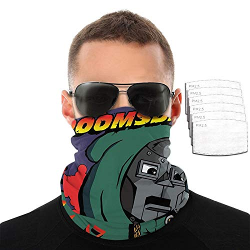 Charlie Brown MF Doom Scarf Variety Face Towel Mas-k Reusable Unisex Cap Hat with 6 Filter