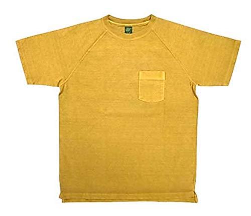 GOOD ON (グッドオン) ヘビーラグラン ポケット Tシャツ 半袖 (顔料染め) (XL, P-バナナ)