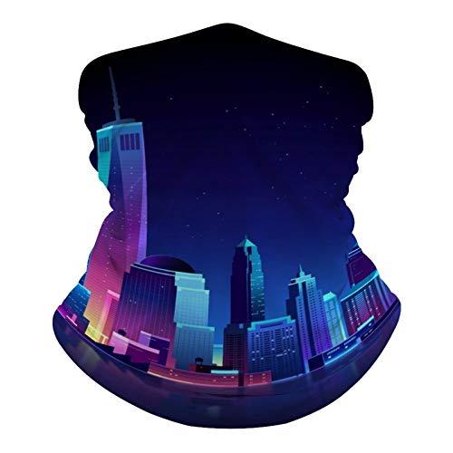 happygoluck1y - Polainas de cuello con diseño de ciudad de Nueva York, transpirable, antipolvo, viento, sol, protección UV, bandana para exteriores, ciclismo, motocicleta, hombres y mujeres