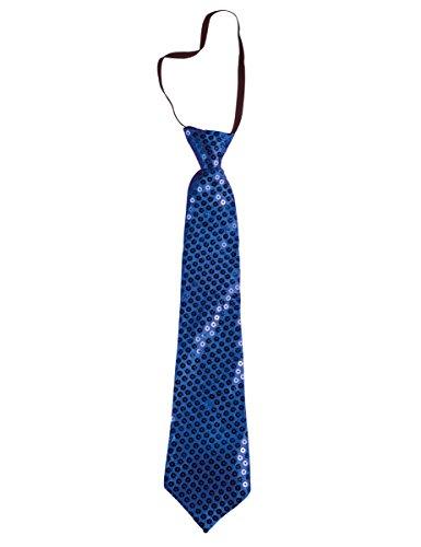 P'TIT CLOWN 60246 Cravate Sequins avec Élastique - Bleu