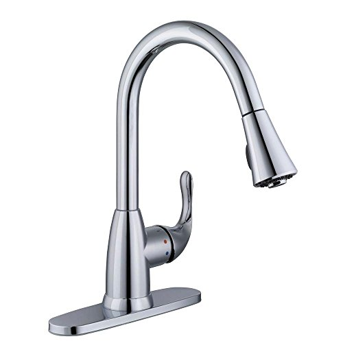 Glacier Bay Market Single-Handle Pull-Down Sprayer Kitchen Faucet in Chrome
