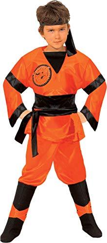 Ciao jongens Dragon Ninja kostuum bambino (Taglia 9-11 jari), Arancione kostuum, oranje/zwart, jaren