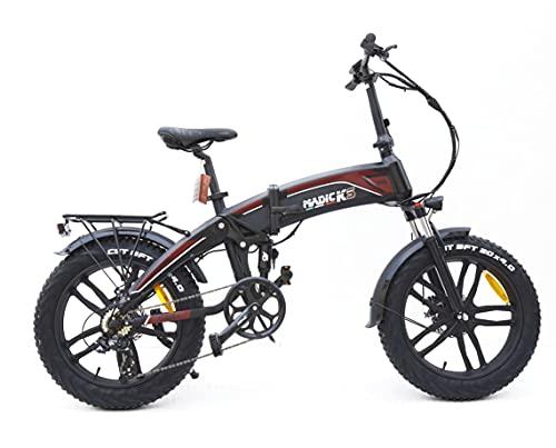 Madicks - Bicicleta eléctrica plegable con doble amortiguación, 250 W
