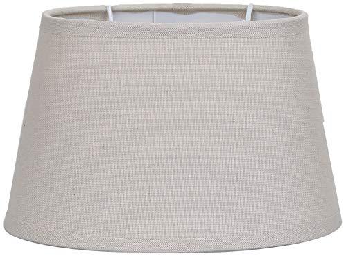 Better & Best Oval Topo Pantalla de lámpara de Lino, Forma Ovalada, de 19,5 cm, Color, Medidas Inferior: 19,5x13,5 cm diametro Superior: 15x9 cm Altura: 13 cm