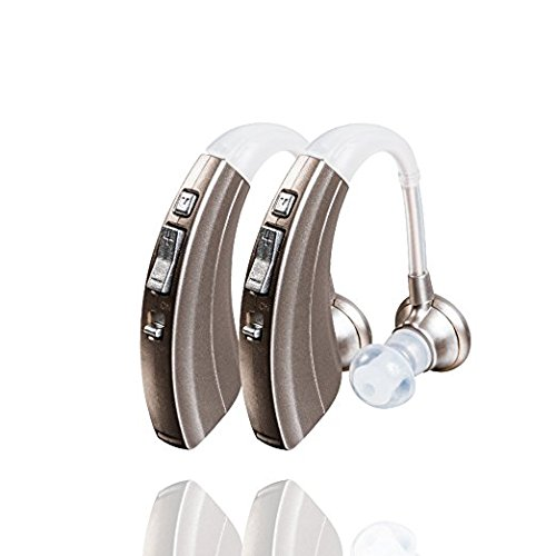Double Pack Silver Premium Quality Hearing Amplifier Comfortable and Easy to Operate B220HASD by Britzgo