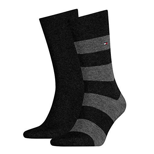 Tommy Hilfiger Herren TH Men Rugby 2P Socken, Schwarz (Black), 39/42 (39-42) (2er Pack)