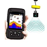 QCHEA Pantalla de Peces de Pantalla de Color portátil HD Intelligent Wired Subwater Sonic Pescish Detector de Pesca para la Pesca recreativa Desde el Muelle, la Orilla o el Banco