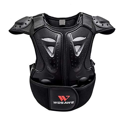 N/Z Kinder Motorrad Brustpanzer Weste, Anti-Vibration, bequem, Körperschutzweste Zum Skaten, Rollern Und Skifahren,Reiten