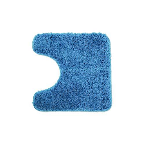 WohnDirect Badematten zum Set kombinierbar • Badvorleger 45x45 cm • Badteppich rutschfest & waschbar • Hellblau • MIT WC Ausschnitt