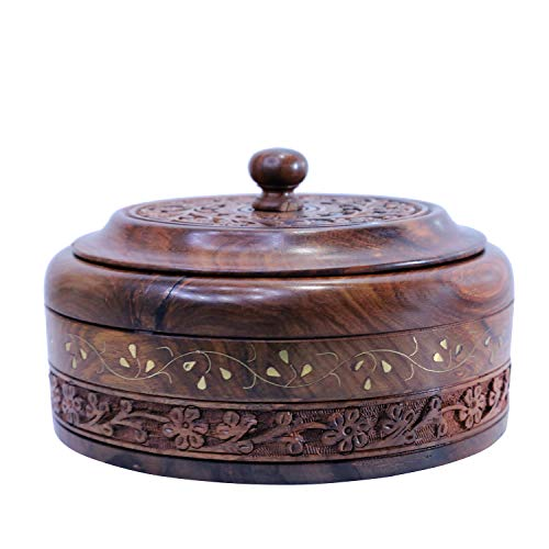 WILLART Wooden Hot Pot Casserole Dish with Lid, Tortilla Chapati...