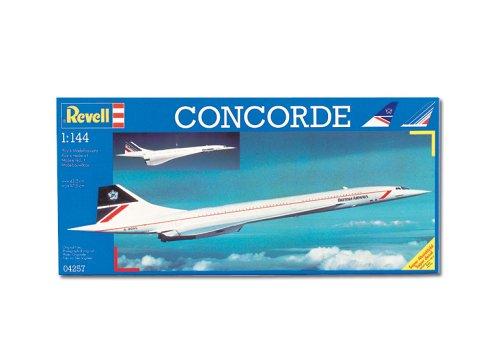 """Revell RV04257 Modellbausatz Flugzeug 1:144 - Concorde \""""British Airways\"""" im Maßstab 1:144, Level 3, originalgetreue Nachbildung mit vielen Details, Zivilflugzeug, Passagierflugzeug, 04257"""