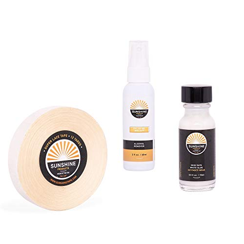 Hair Replacement Kit - Premium Super Lace Tape Roll, Bonding White Wig Glue, Ultimate Alcohol Residue Remover