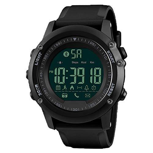 C-ET Hohe Qualität,wasserdicht, Smart Sportuhr, Multifunktions-Schritt für Schritt wasserdichte Uhr, Student Mode lässig elektronische Uhr, kann mit Bluetooth-Uhr verbunden Werden,Outdoor,Arbeitsplat