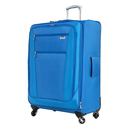 Ricardo Beverly Hills Del Mar Softside Expandable 4 Wheel Spinner Luggage, Sapphire, Checked-Large 29-Inch