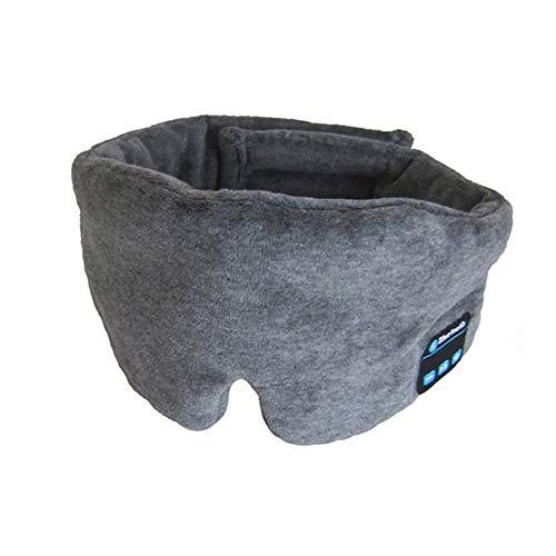 PXX Kabellos Bluetooth Kopfhörer Schlaf Maske Telefon Stirnband Schlaf Sanft Kopfhörer Zum Schlafen Auge Maske Stereo Musik Headset Bluetooth Brille/grau