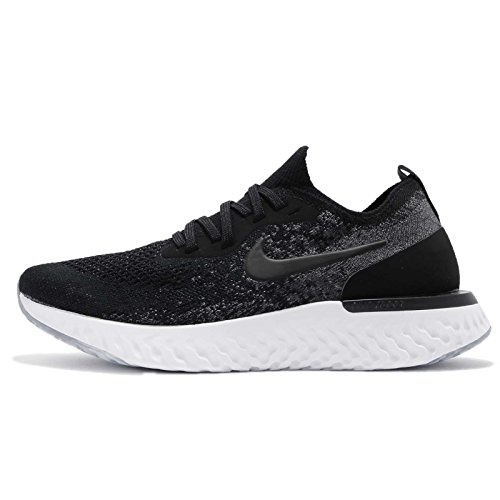 Nike Women's WMNS Epic React Flyknit Competition Running Shoes, Multicolour (Black/Black/Dark Grey/Pure Platinum 001), 3 UK