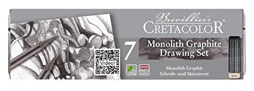クレタカラー モノリス グラファイト 6本セット 消しゴム付 Cretacolor Monolith Pencil 204-26