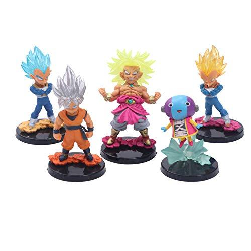 RGERG Action-Figuren Spielzeug Non-Taste Fun Hand zu tun 5 ultimative Trompete Set Ornamente 5Pcs-7 Generationen von 5 kleinen Drachenkugeln, 8,5 cm hoch
