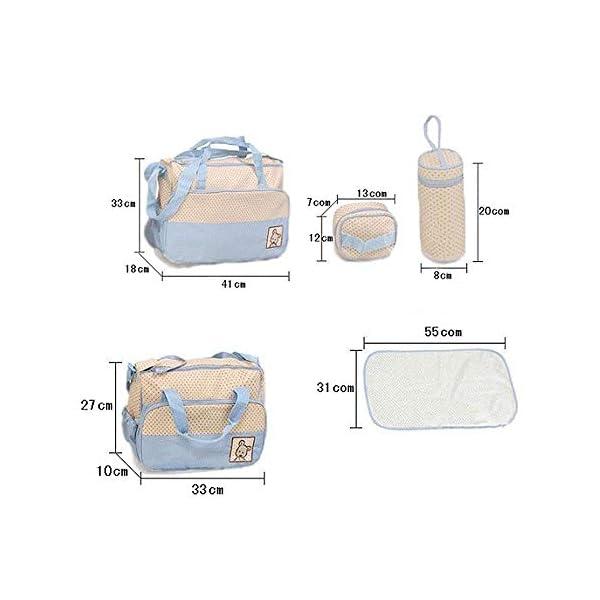 41RG7tOzFXL. SS600  - NO BRAND 5pcs / Set Trajes de Bolsa de pañales para bebés multifunción para mamá Porta biberones Madre Mamá Cochecito Maternidad Bolsas de pañales Conjuntos