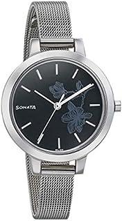 سوناتا سيلفر لاينينج ، مقاومة للماء، ميناء أسود، ساعة نسائي