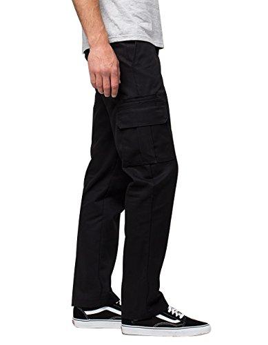 Dickies Men's Regular Straight Stretch Twill Cargo Pant, Black, 36x30