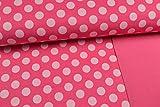 Stoffe Schulz | Softshell Stoff Tupfen,pink | Meterware ab