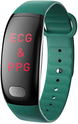 Pulsera inteligente PPG podómetro IP67 impermeable reloj deportivo hombres s y mujeres s relojes inteligentes-verde