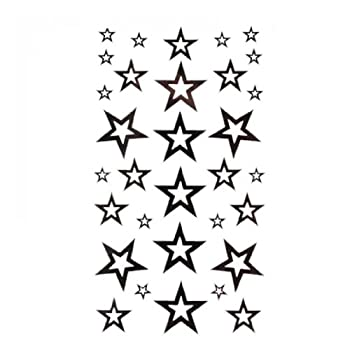 SPESTYLE waterproof non-toxic temporary tattoo stickerstemp tattoos fashion sexy black five-pointed star totem
