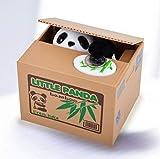 TWGDH Chatora Little Panda Itazura Caja de Ahorro automática de Hucha de Monedas