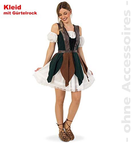 FRIES Robin Hood - Disfraz de corredor del bosque para mujer