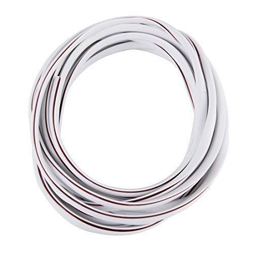 Protection de Bords de Porte 5m en Blanc pour Voiture - Profils en U Hochflexibel - Trim - Auto-Adhésif Voiture Voiture
