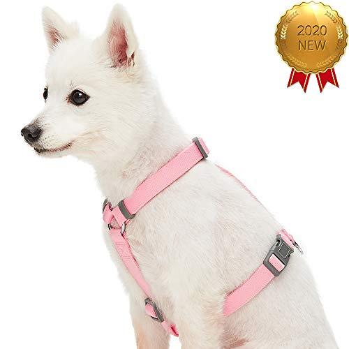 UMI. Essential Klassisches einfarbiges Hundegeschirr für alle Tage, Rosa, Mittel, verstellbares Geschirr für Hunde