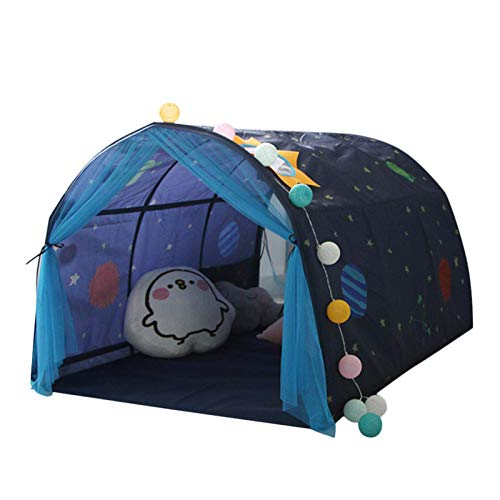 Iwinna Play Tent Space World Dome Tent - Children Bed Tent Game House Baby Home Tent Boy Girl Safe House Tunnel Tent For Kids