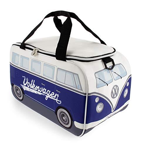 BRISA VW Collection - Volkswagen Bulli Bus T1 Kühltasche 25 Liter (Motiv: Weiß/Blau)
